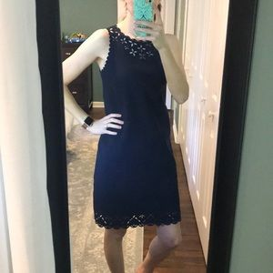J. Crew Laser-cut Shift Dress